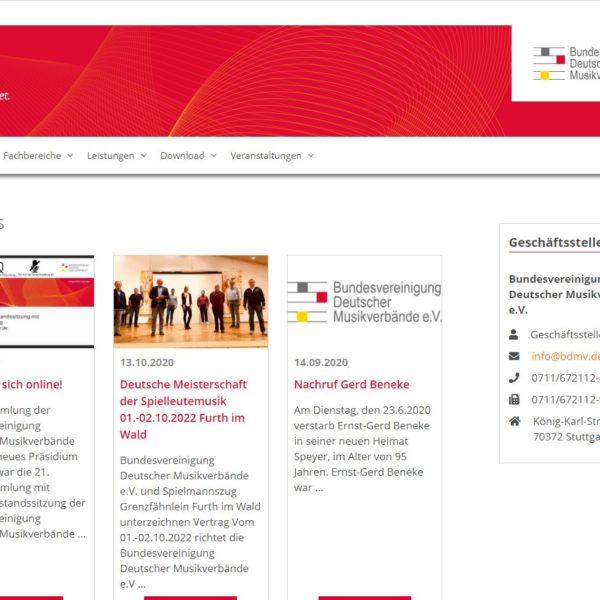 Neues Outfit für die Bundesvereinigung Deutscher Musikverbände e.V.